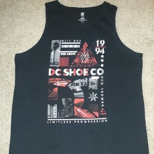 DC Tank Top Black Size Large Amazing Condition
